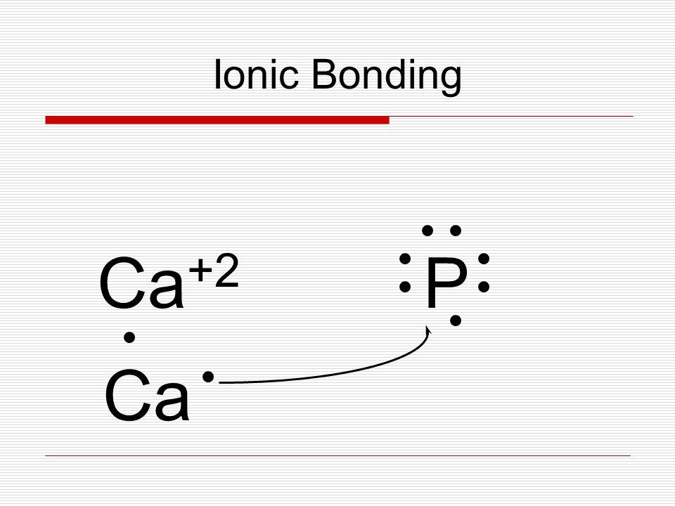 Ionic Bonding Ca +2 P Ca