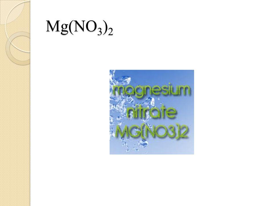 Mg(NO 3 ) 2