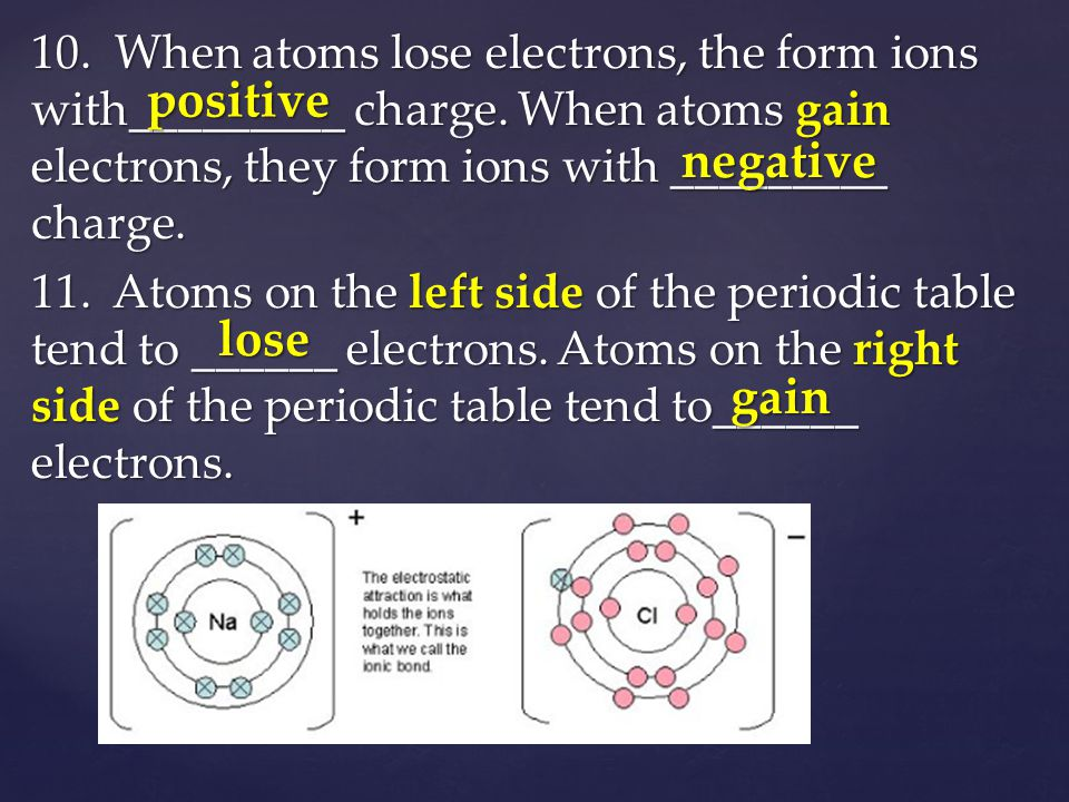 12.Sodium has __ valence electron(s). It tends to form ions by _______ valence electron(s).
