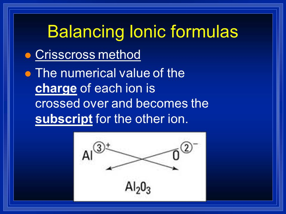 Ionic Bonding = Ca 3 P 2 Chemical formula- shows the kinds and numbers of atoms in the smallest representative particle of the substance.