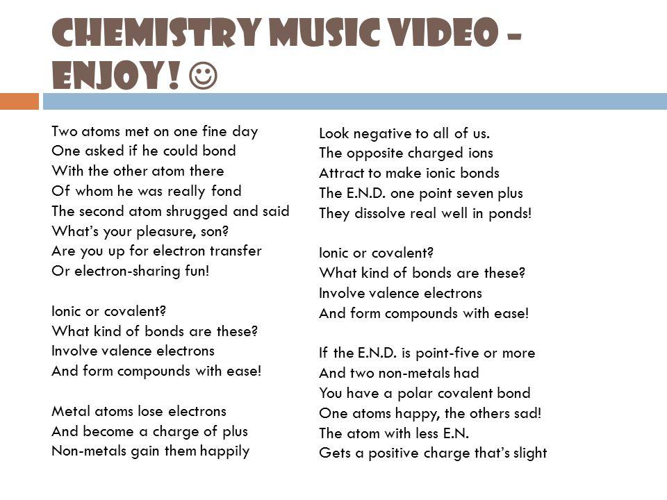 Chemistry Music Video – Enjoy.