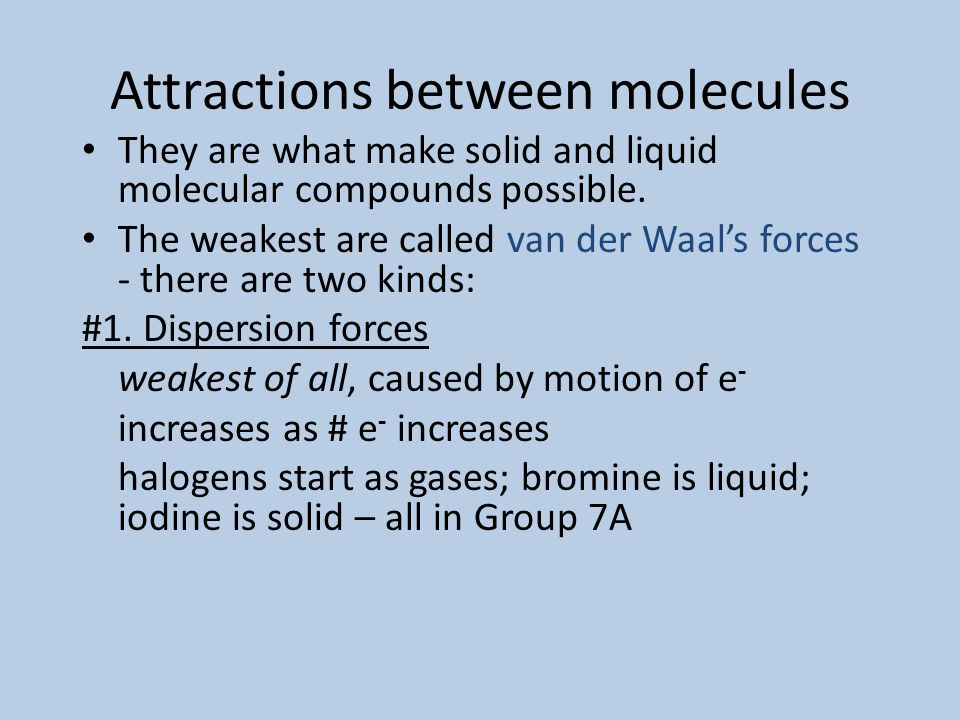 Polar molecules When polar molecules are placed between oppositely charged plates, they tend to become oriented with respect to the positive and negat
