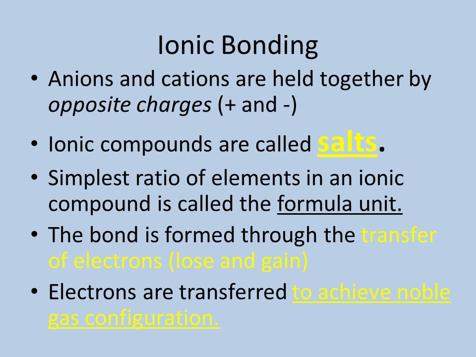 Stable Electron Configurations All atoms react to try and achieve a noble gas configuration. Noble gases have 2 s and 6 p electrons. 8 valence electro
