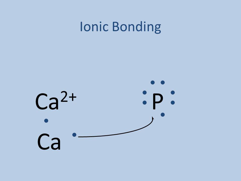 Ionic Bonding Ca 2+ P