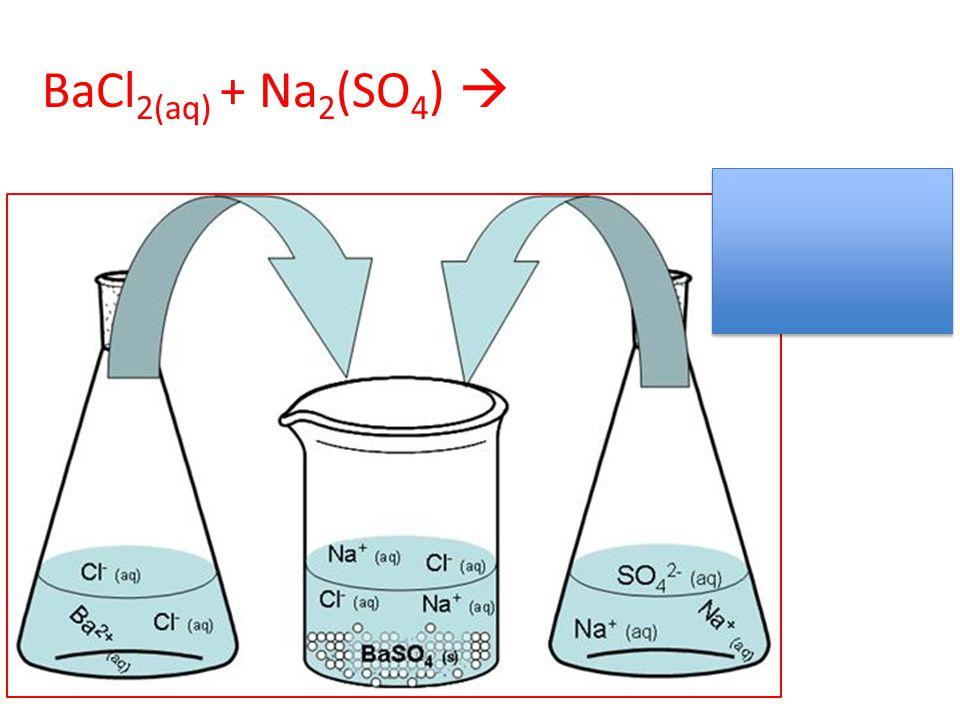 BaCl 2(aq) + Na 2 (SO 4 ) 