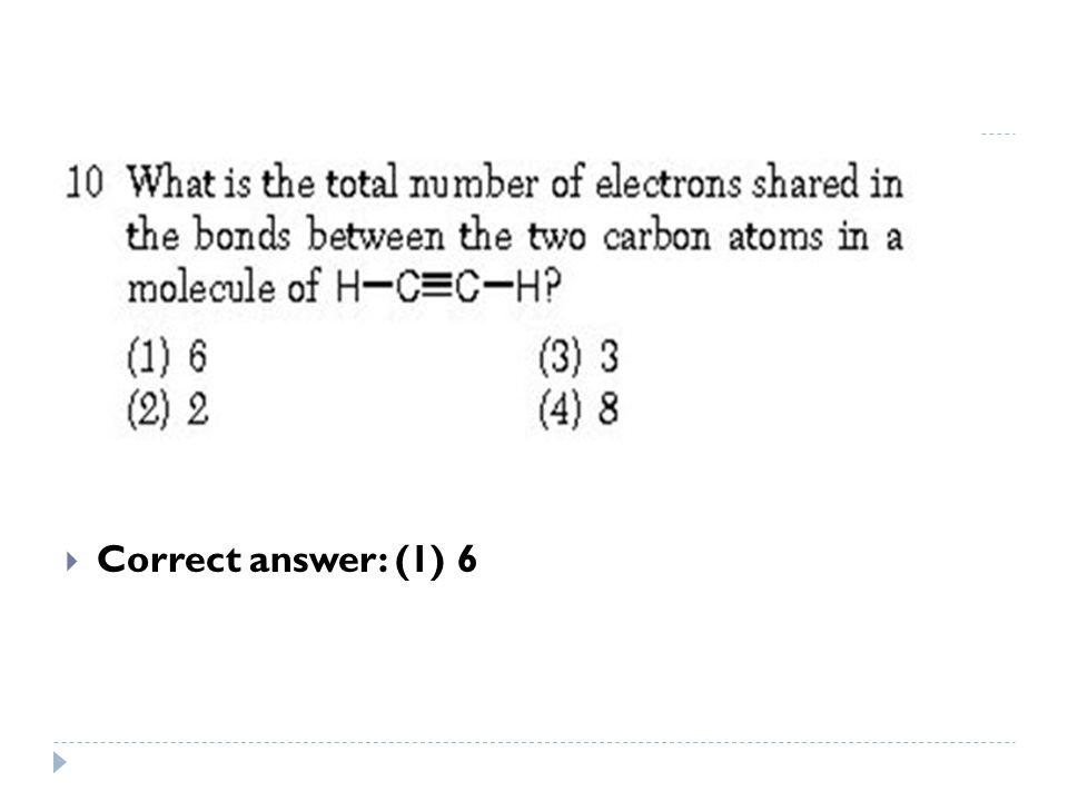  Correct answer: (1) 6