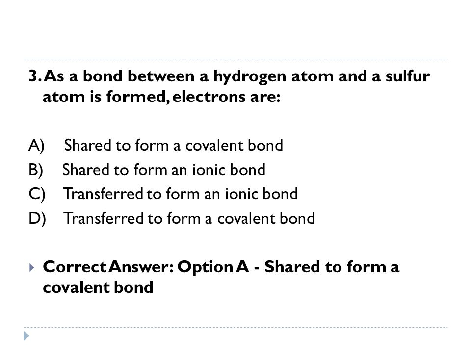 4.Atoms of which element can bond to each other to form chains, rings, and networks.