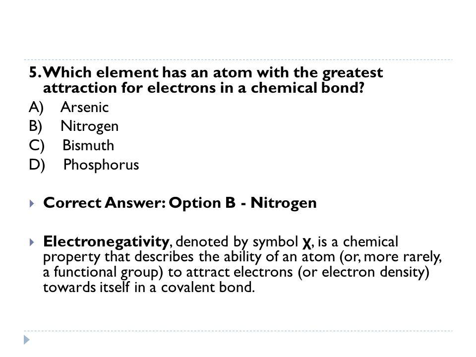 6.Which formula represents a polar molecule.