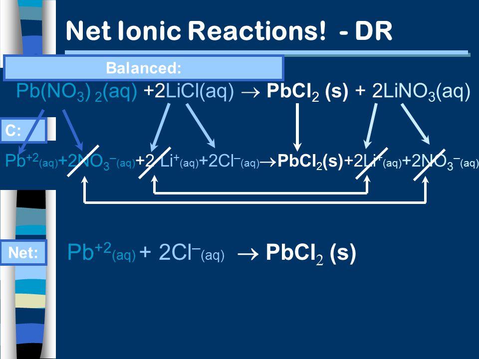 Net Ionic Reactions.
