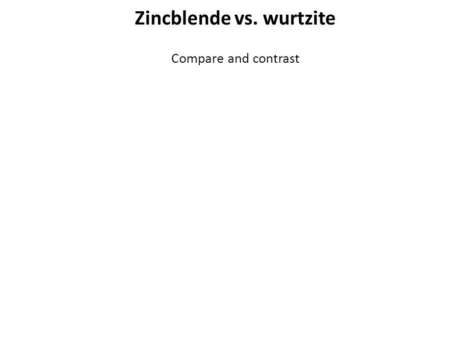 Zincblende vs. wurtzite Compare and contrast