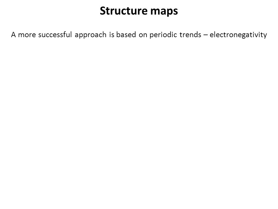 Structure maps A more successful approach is based on periodic trends – electronegativity