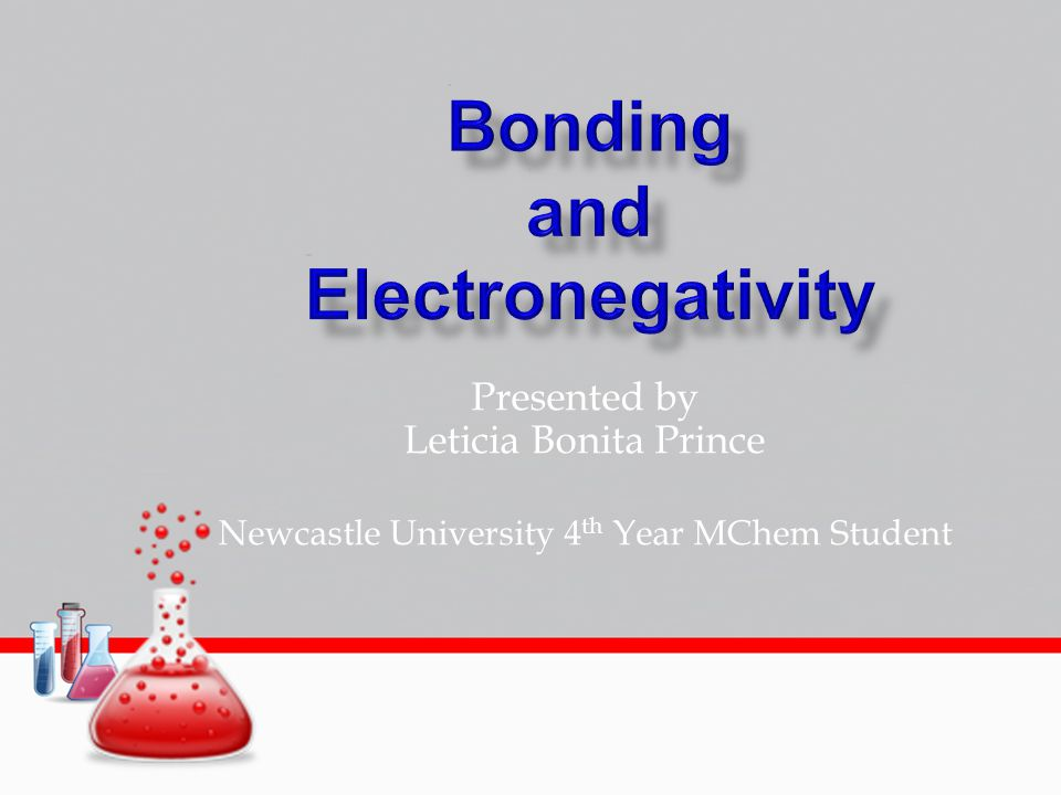 Presented by Leticia Bonita Prince Newcastle University 4 th Year MChem Student