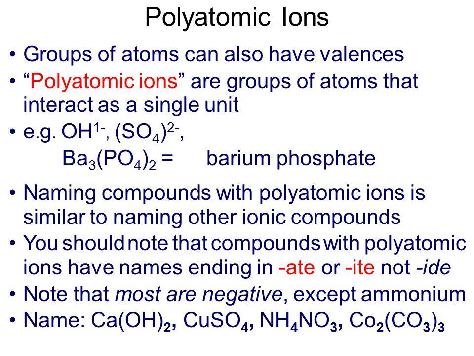 Element (charge) Name Cu (1,2)copper (I), copper(II) Fe (2,3)iron(II), iron (III) Pb (2,4)lead(II), lead(IV) Sn (2,4)tin (II), tin (IV) Co (2,3)cobalt (II), cobalt (III) Cr (2,3)chromium(II) chromium(III) Mn (2,3)manganese(II), manganese(III) Hg (1,2)mercury (I), mercury (II)
