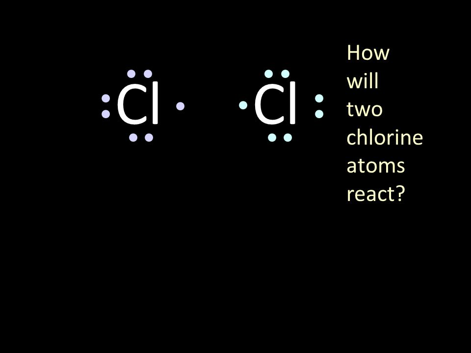 Cl 2 Chlorine forms a covalent bond with itself