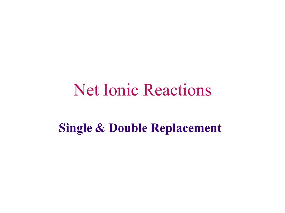 REPLACEMENT REACTIONS - one element replaces another in a compound - more active metals replace less active metals OR more active nonmetals replace less active nonmetals (see activity chart on other side) A + BC  AC + B KEY: REACTANTS ARE 1 ELEMENT AND 1 COMPOUND - ORDER NOT IMPORTANT - ELEMENT CAN'T BE O 2 A.
