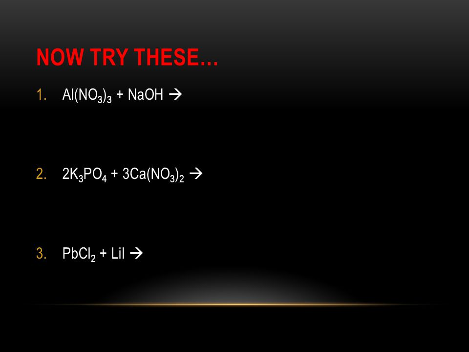 NOW TRY THESE… 1.KOH + HCl  2.HF + Li 2 S  The net ionic equations you will be studying can be broken into categories to help you get through the questions faster.