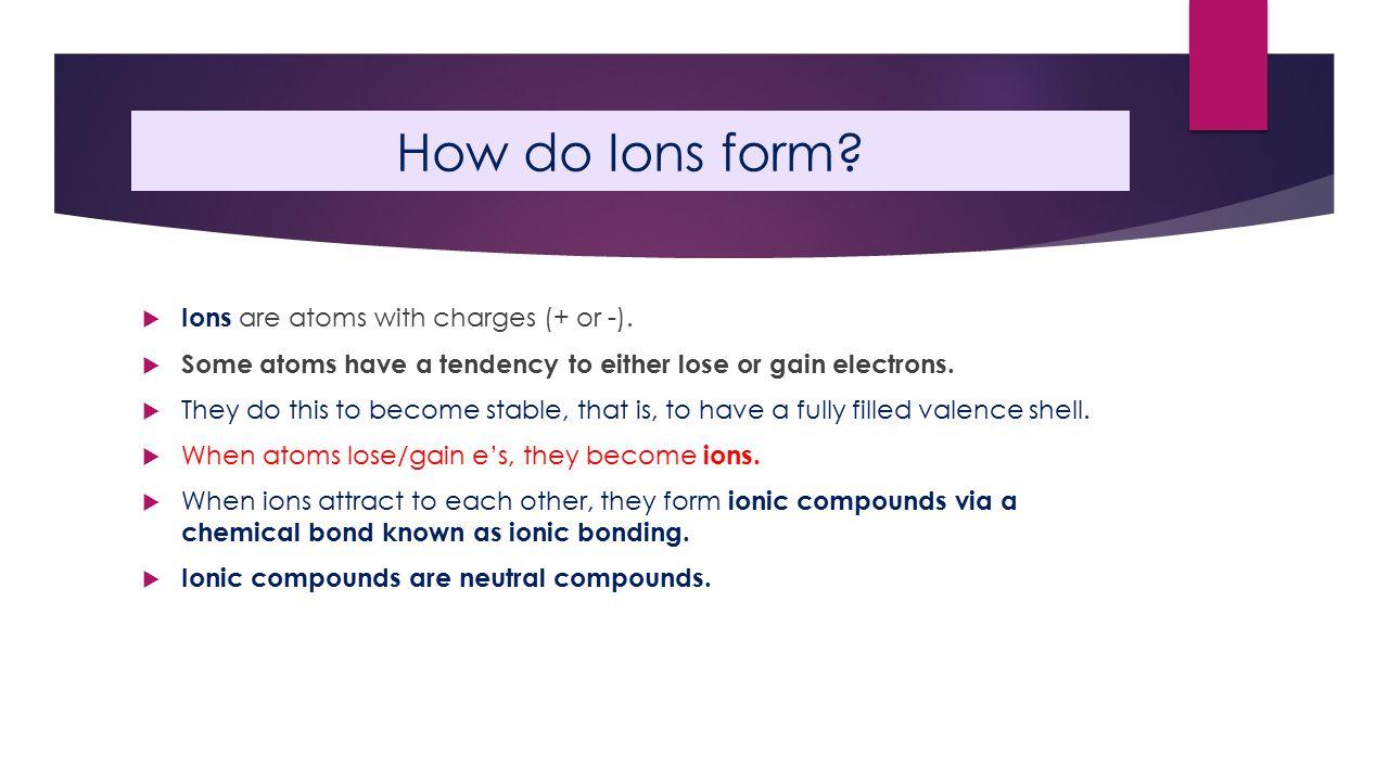 Worksheet on Ion formation