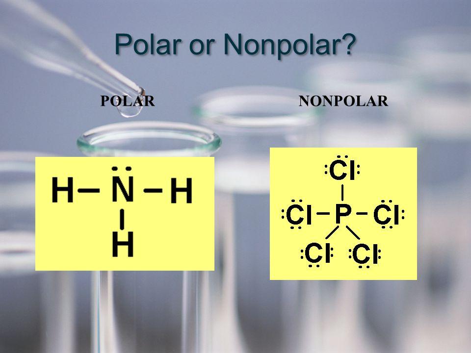 Polar or Nonpolar? POLAR NONPOLAR