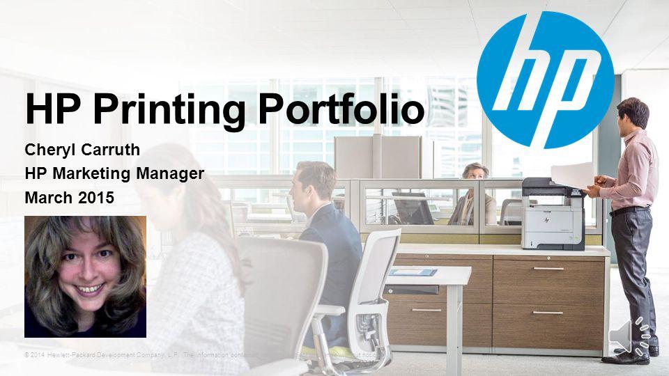 © 2014 Hewlett-Packard Development Company, L.P.