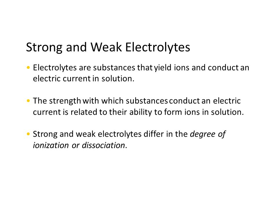 Models for Strong and Weak Electrolytes and Nonelectrolytes
