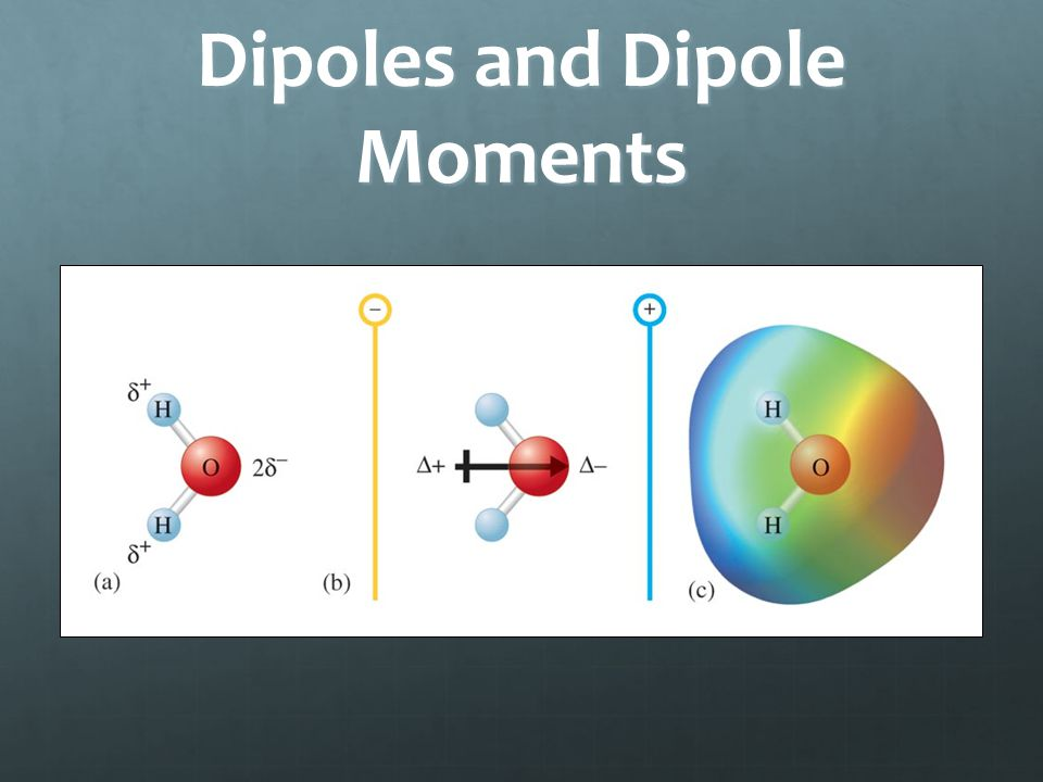 Dipoles and Dipole Moments