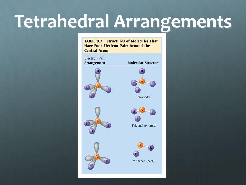 Tetrahedral Arrangements
