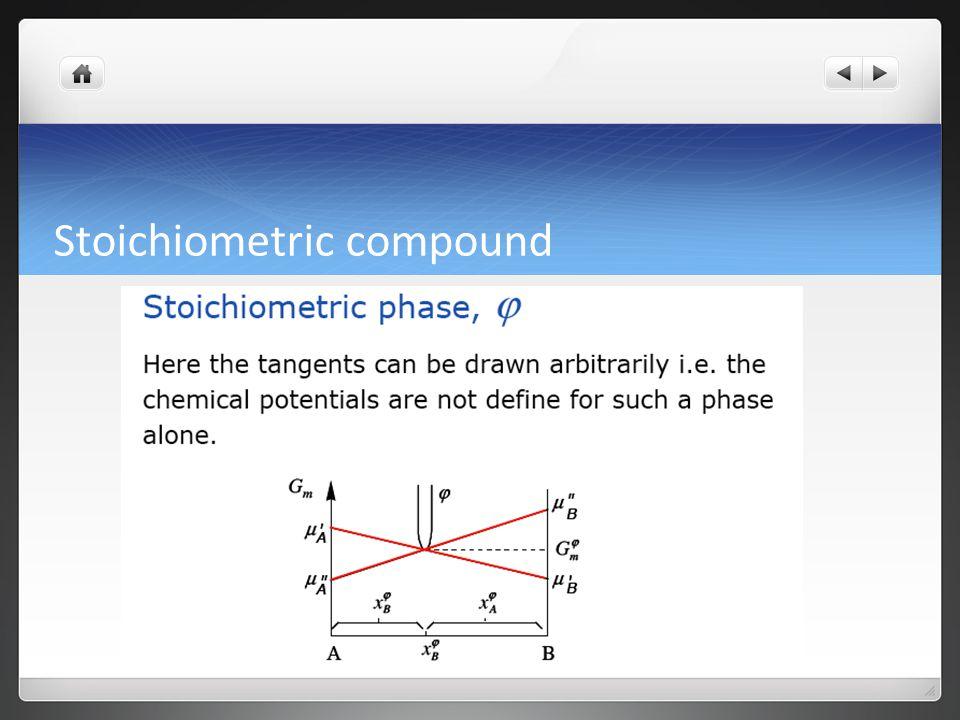 Stoichiometric compound