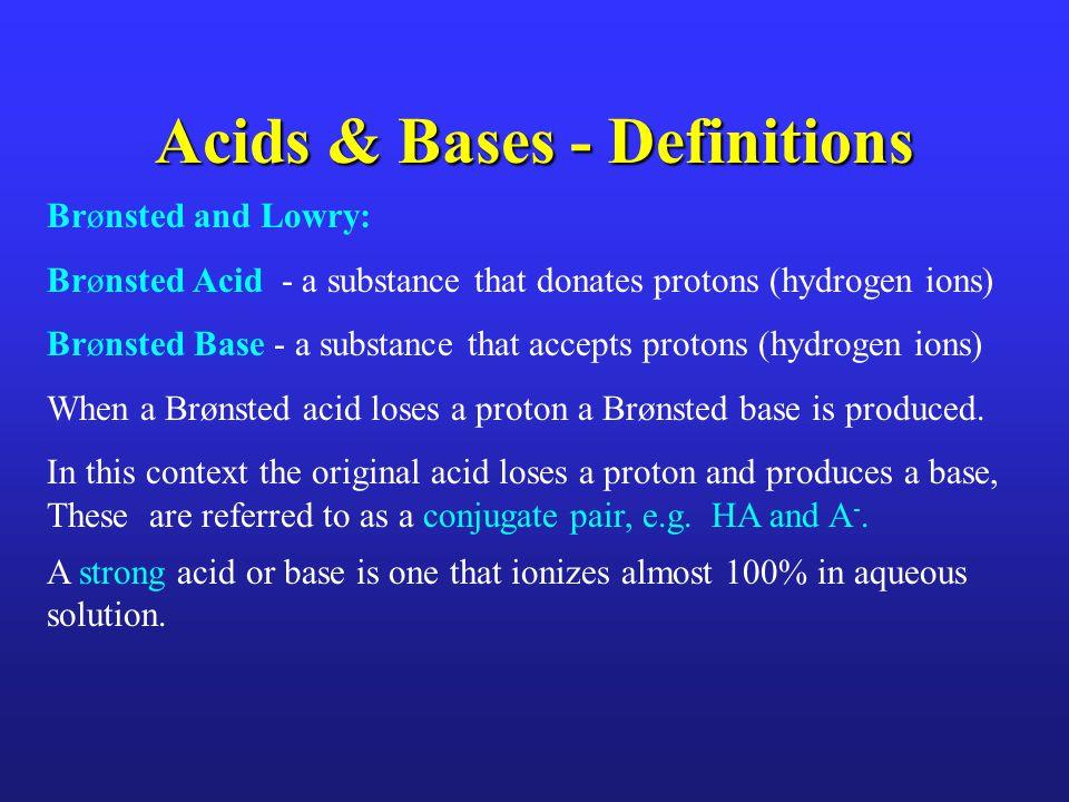 K a (Dissociation Constant) K a numerically describes the strength of an acid.
