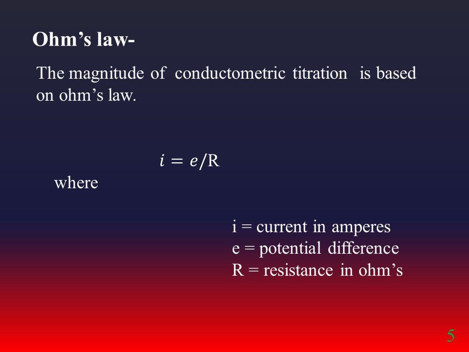Ohm's law- 5