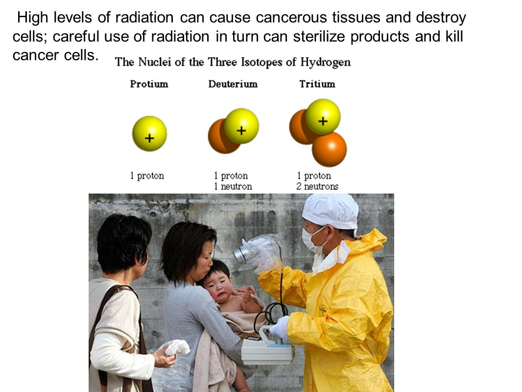 Low levels of radiation such as radioactive iodine or glucose allow researchers to trace the location and activity of the atom in living tissues; therefore these isotopes are called tracers which are used in CAT scans