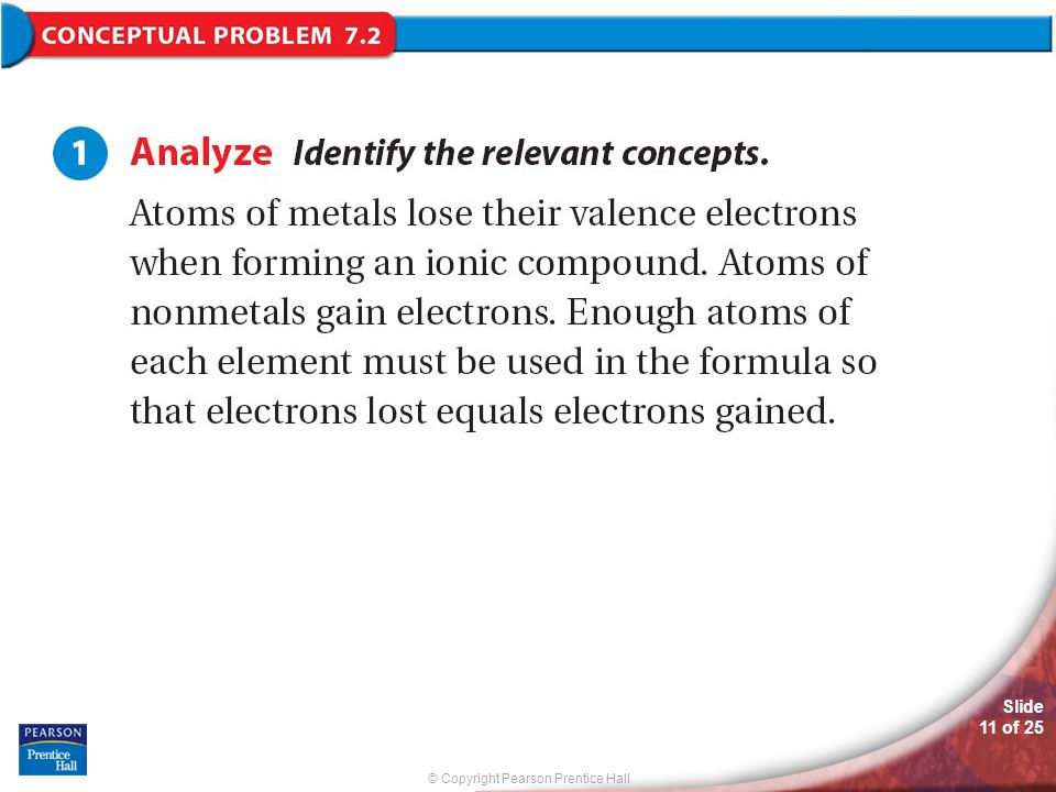 © Copyright Pearson Prentice Hall Slide 11 of 25 Conceptual Problem 7.2