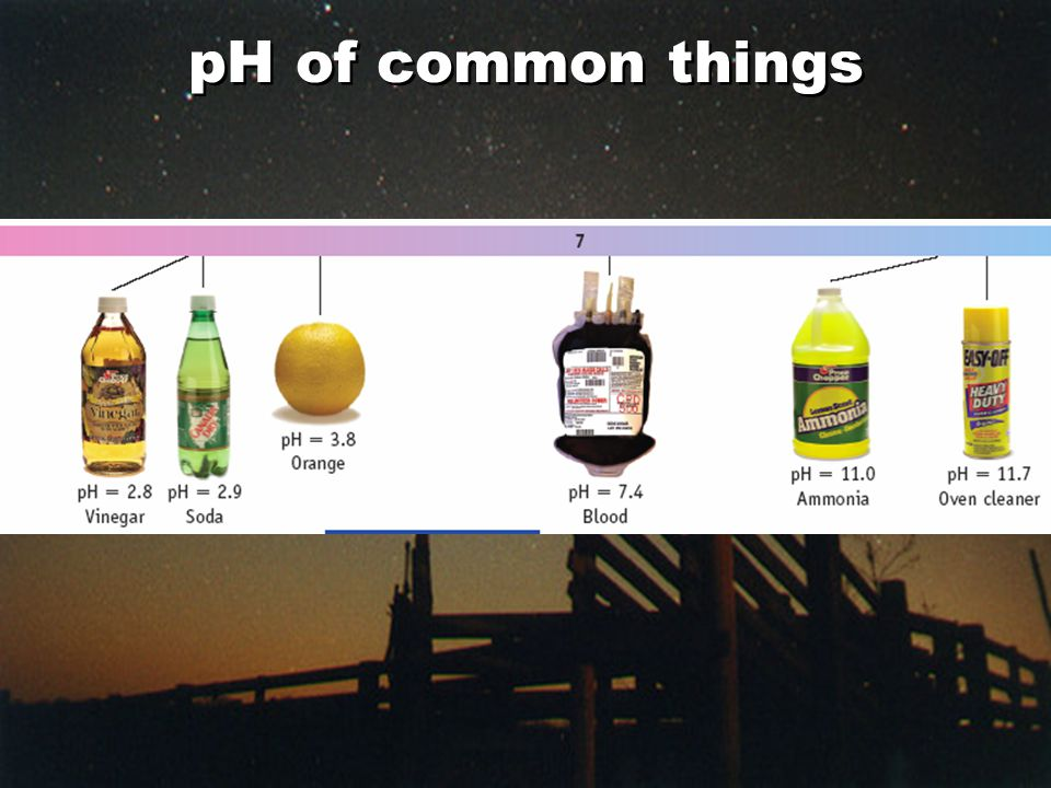pH of common things