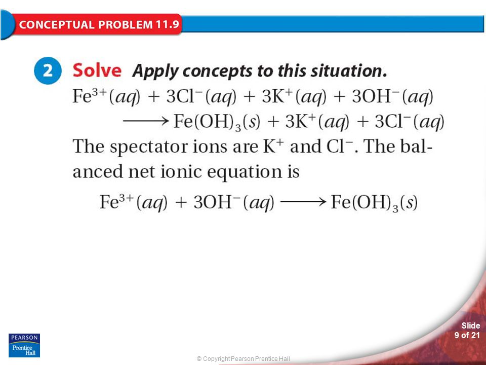 © Copyright Pearson Prentice Hall Slide 10 of 21 Practice Problems for Conceptual Problem 11.9 Problem Solving 11.28 Solve Problem 28 with the help of an interactive guided tutorial.