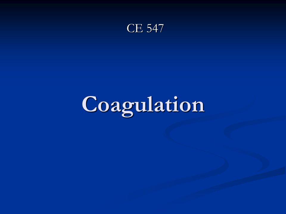 Coagulation CE 547