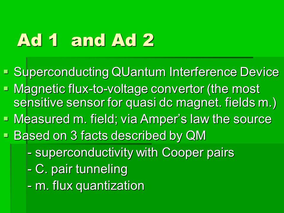 Part of SQUID microscope and C.c.
