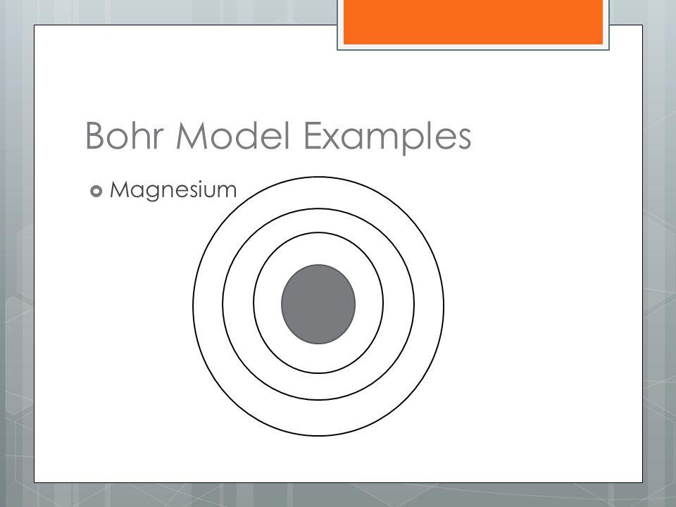 Bohr Model Examples  Magnesium