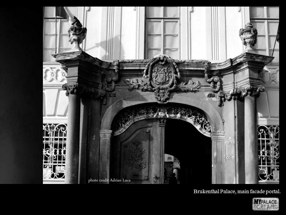 Brukenthal Palace, main facade portal.