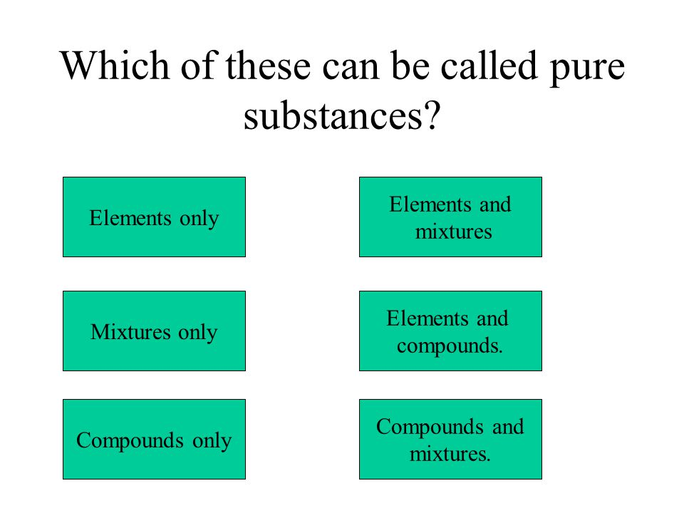 Which of these can be called pure substances.