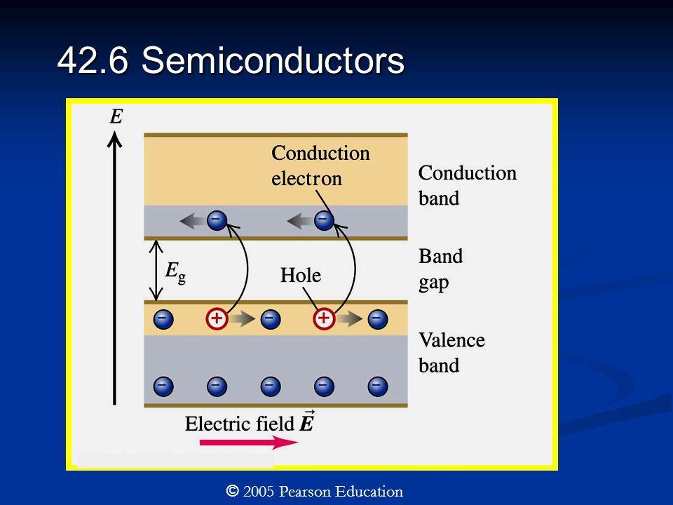 42.6 Semiconductors © 2005 Pearson Education