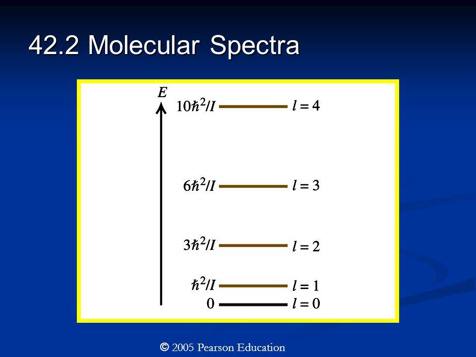 42.2 Molecular Spectra © 2005 Pearson Education