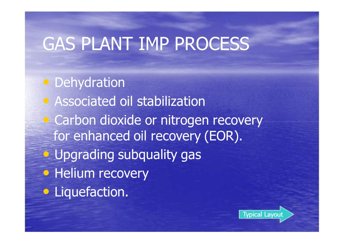 SULFINOL ® PROCESS The Sulfinol®process, developed and licensed by Shell, employs both a chemical and a physical solvent for the removal of H 2 S, CO 2, mercaptans, and COS.