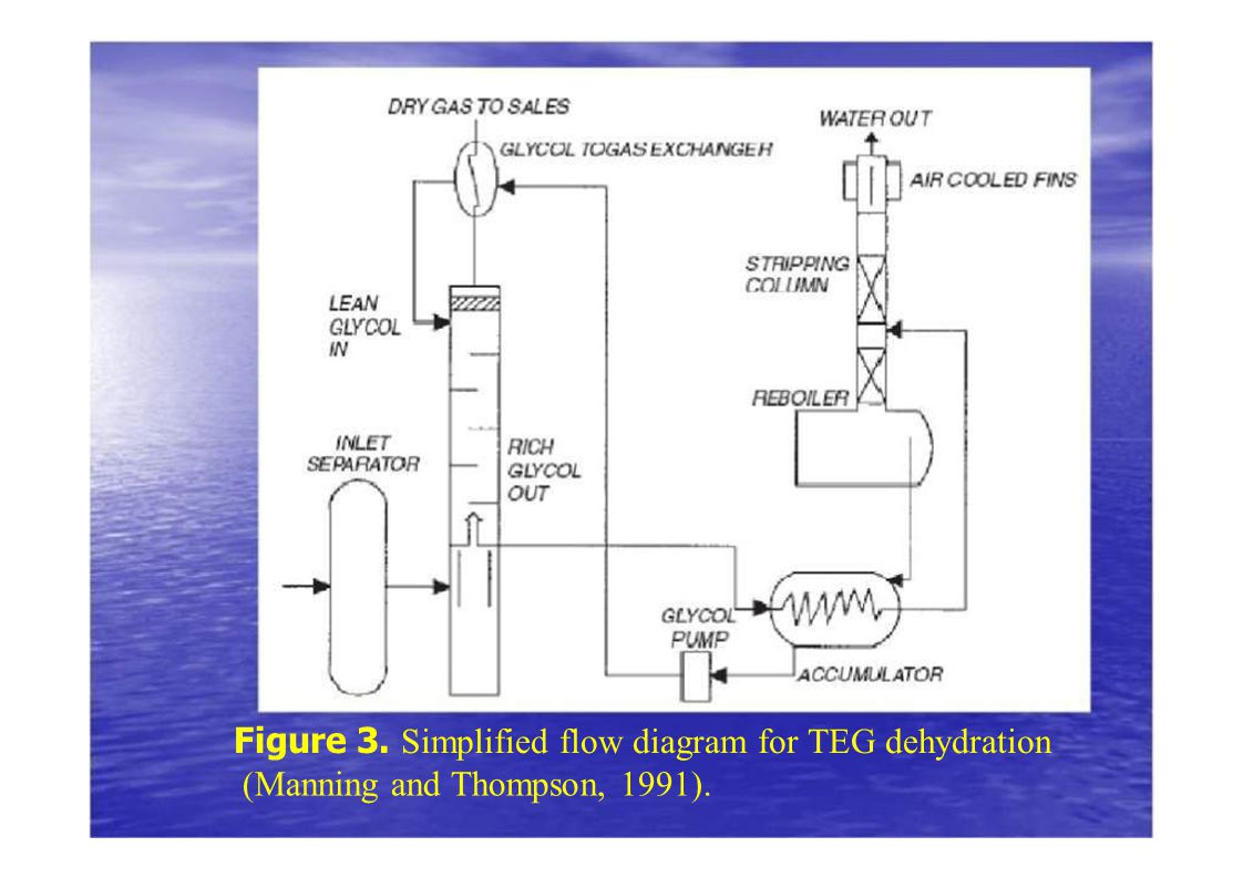 Figure 3. Simplified flow diagram for TEG dehydration (Manning and Thompson, 1991).