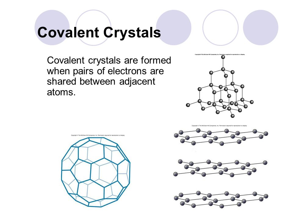 Ionic Crystals Ionic crystals are formed by the attraction between positive and negative ions.
