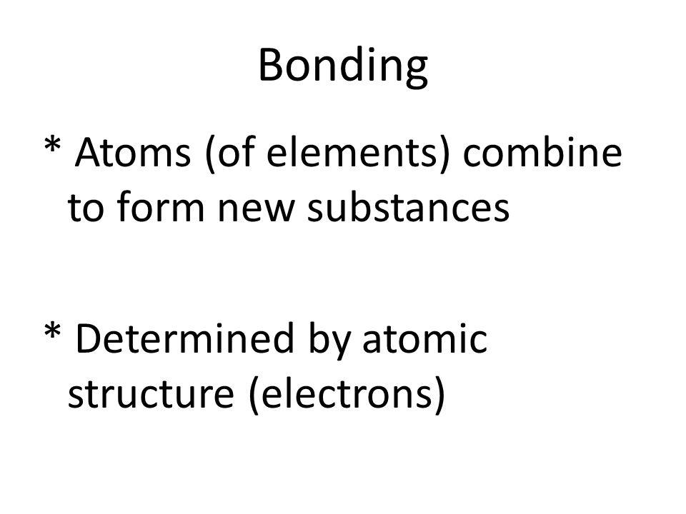 3 Types of Atomic Bonds 1.Ionic Bond * involves transfer of valence electron