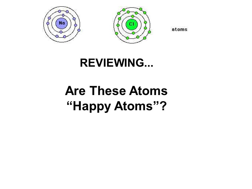 REVIEWING... Are These Atoms Happy Atoms
