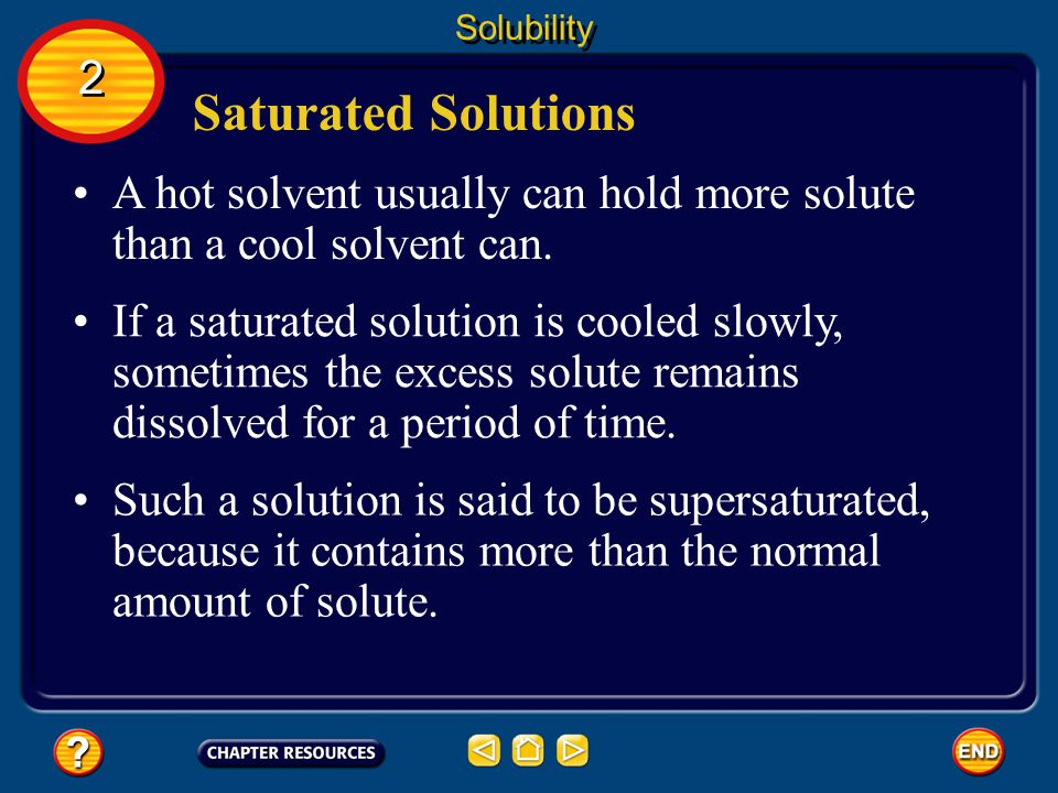 Saturated Solutions A solution that contains all of the solute that it can hold under the given conditions is called a saturated solution.