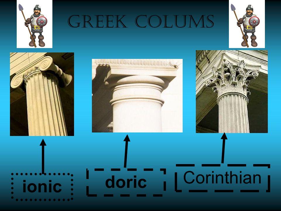 ionic Corinthian Greek colums doric