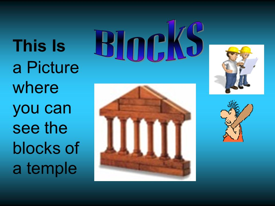 This Is a Picture where you can see the blocks of a temple