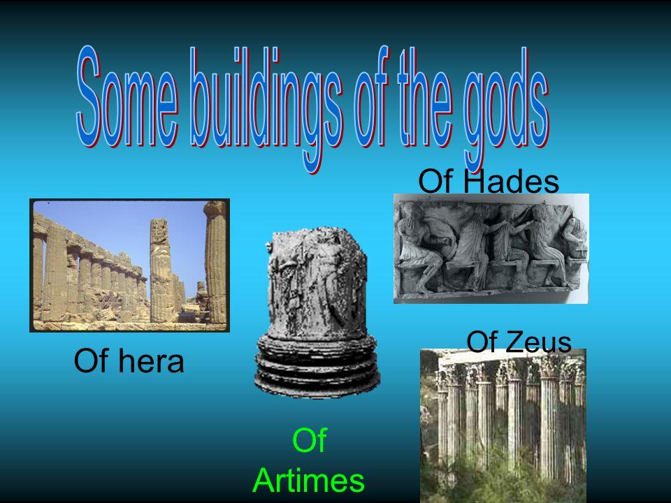 Of Hades Of hera Of Artimes Of Zeus