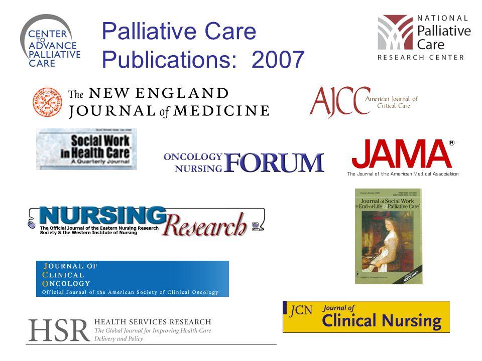Palliative Care Publications: 2007